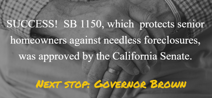 SB 1150 approval by Senate
